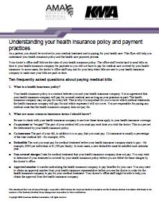 Understanding your insurance