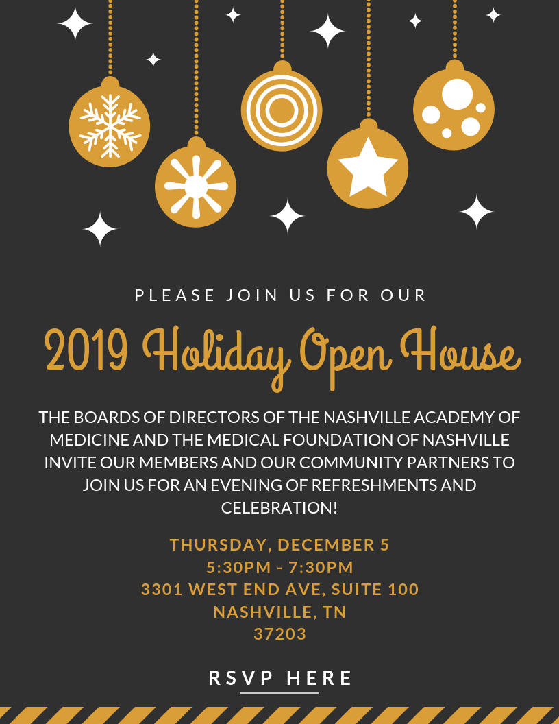 2019 Holiday Open House Graphic with - RSVP HERE