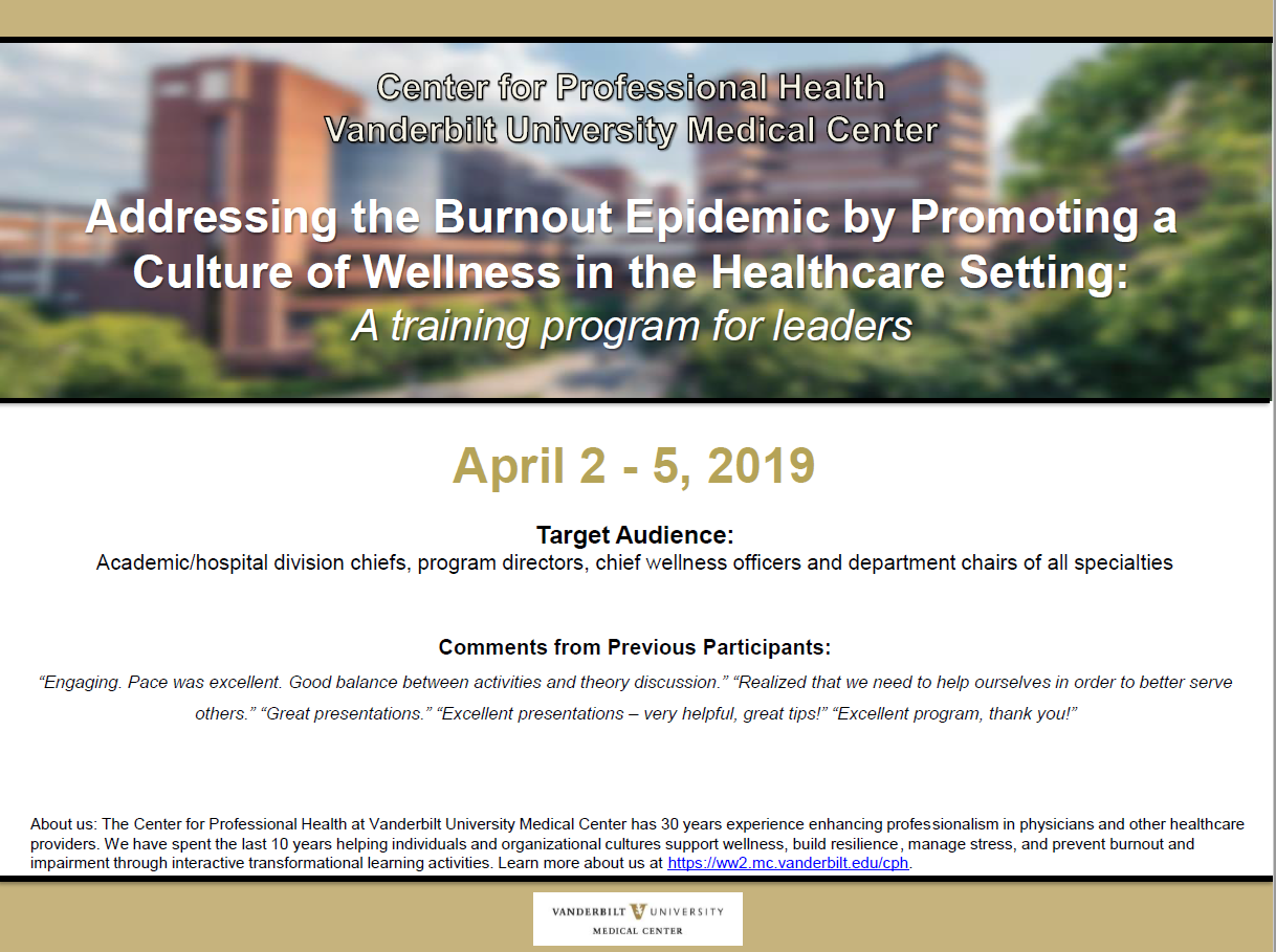 NAM Member Invitation: Addressing the Burnout Epidemic by Promoting a Culture of Wellness in the Healthcare Setting