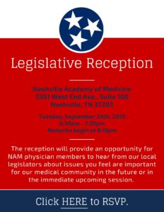 Legislative Reception @ Nashville Academy of Medicine