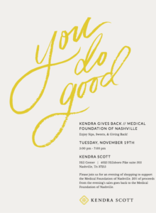Kendra Scott Gives Back with the Medical Foundation of Nashville @ Kendra Scott