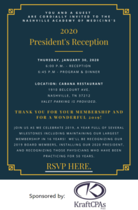 2020 NAM President's Reception @ Cabana Restaurant