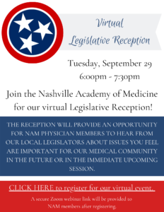 (Virtual) Legislative Reception with Nashville Academy of Medicine